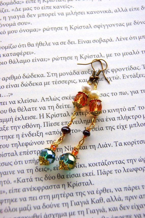 Retro Earrings by RenatasArt on Etsy, €12.00