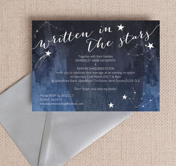 41 best beautiful evening wedding reception invitations images on midnight stars evening reception invitation printable pdf or professionally printed personlise online stopboris Choice Image