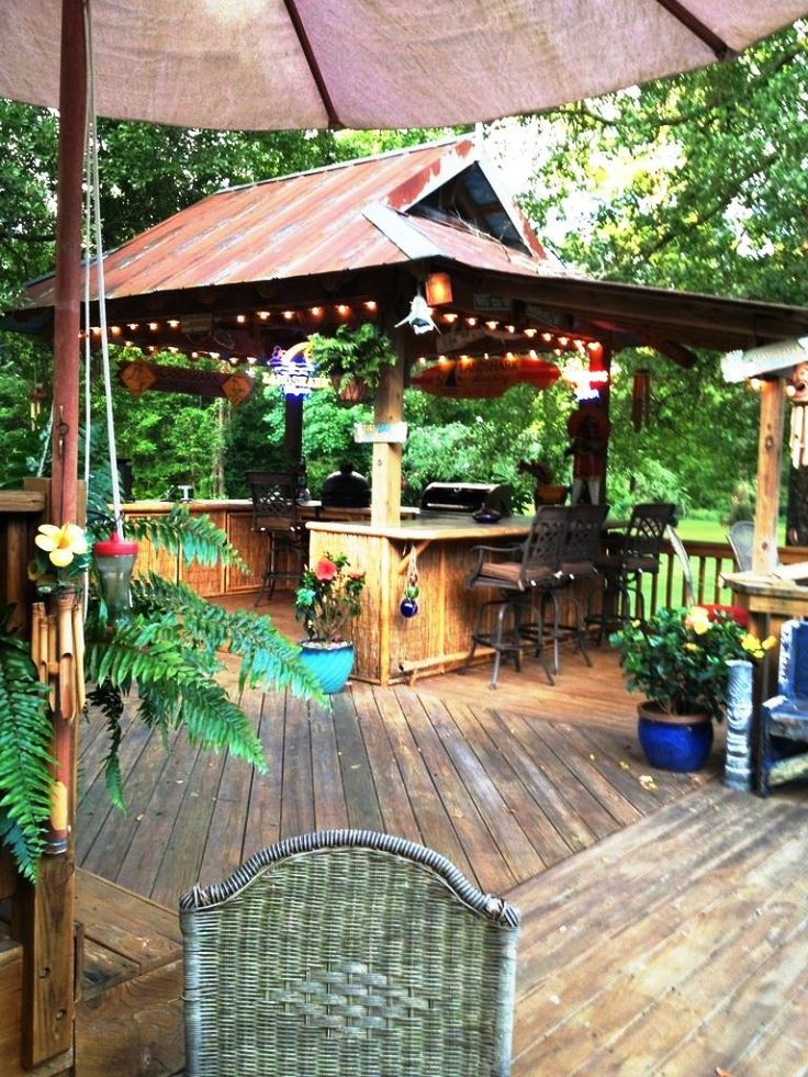 Backyard Tiki Bar Ideas : Tiki Hut Pinterestte  Tiki Bar, Bar ve Havuzlar hakkinda 1000den