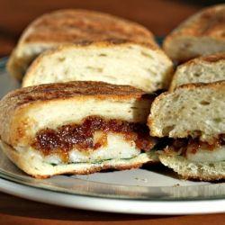 Bacon jam and cheese panini.: Baconjam, Food Recipes, Perfect Pantries, Cheese Paninis, Bacon Jam, Cour Recipes, Bacon Boards, Chee Paninis, Favorite Recipes