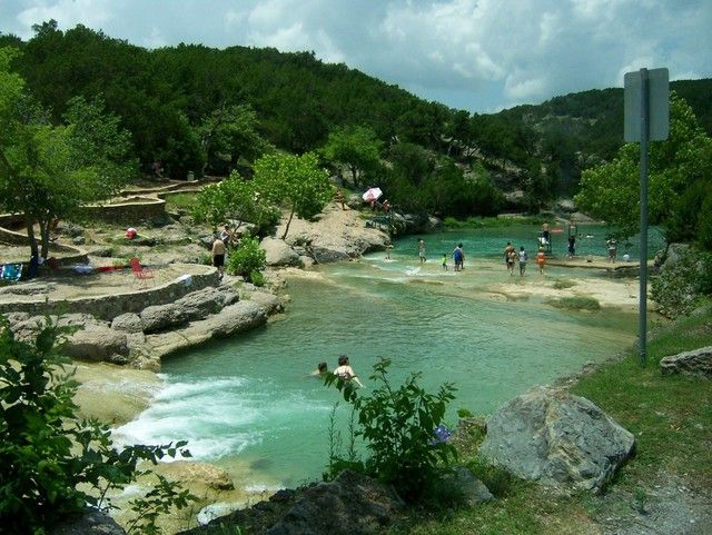 Turner Falls, OK - looking downriver from the falls.