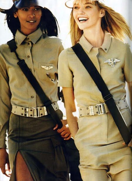 military girl fashion - Buscar con Google