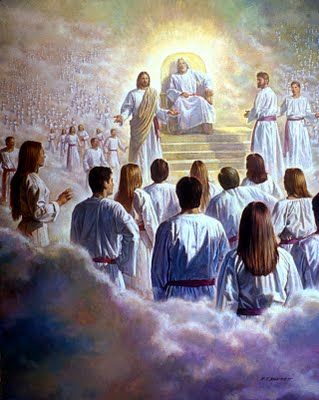 by Robert T. Barrett. The council in heaven. God presented a plan of salvation that included the loving sacrifice of his son, Jesus Christ - Jehovah. We accepted this plan and came to earth. Our Savior stands to show us the way back to live with our Heavenly Father. mormon.org