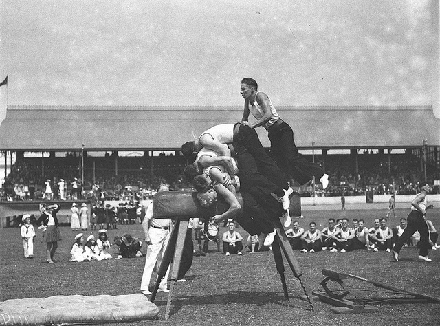 Men's vault, Highland Society's Caledonian Games, Sydney Showground, 1 January 1935 by Sam Hood by State Library of New South Wales collection, via Flickr