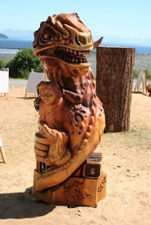 Wood carving in Campbell River