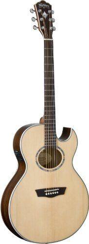 Washburn USM-EA20SNB Nuno Signature Series Acoustic Electric Guitar, Natural -- Read more  at the image link.