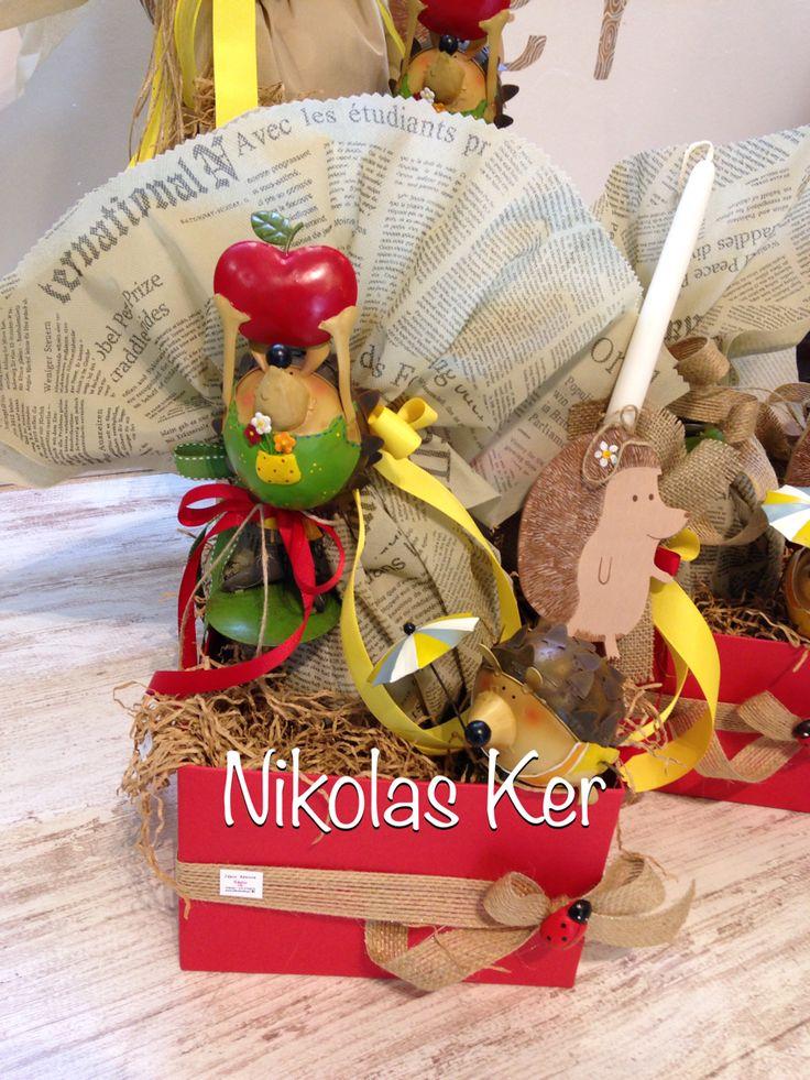 Πασχαλινό κουτί με μεταλλικά & ξύλινα σκατζοχοιράκια! Περιέχει σοκολατένιο αυγό & λαμπάδα. Θα τα βρείτε αποκλειστικά στο κατάστημά μας Ελ. Βενιζέλου 131, Νέα Ιωνία-Αθήνα. www.nikolas-ker.gr