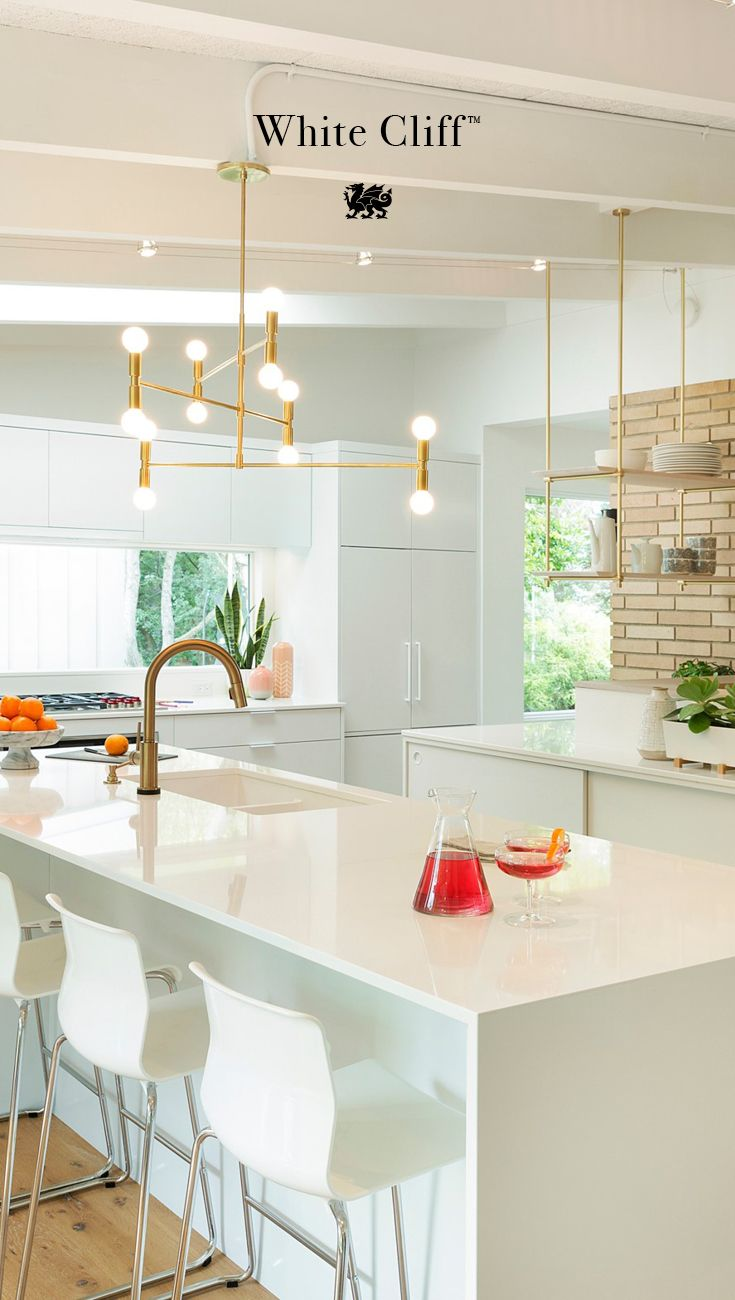 This Pure White Quartz Countertop From Cambria Is The