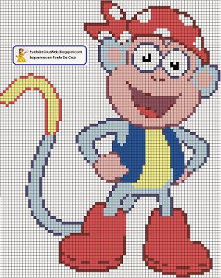 Boots the monkey cross stitch