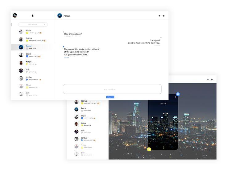 Snapchat Web Design Concept