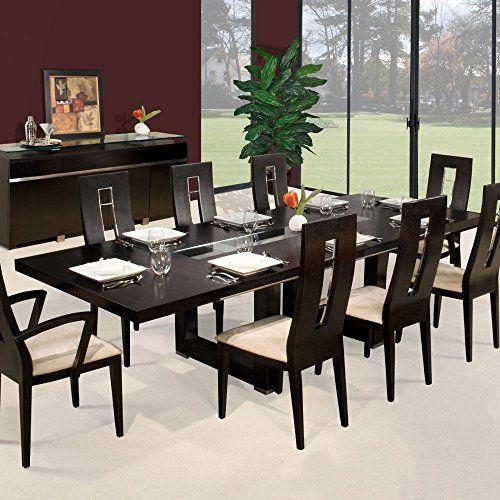 Novo Rectangular Extendable Dining Table   WengeBest 25  Extendable dining table ideas on Pinterest   Expandable  . Extendable Dining Room Table Set. Home Design Ideas