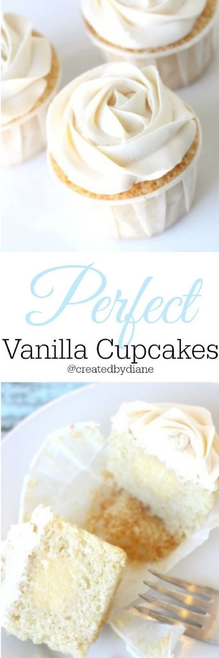Vanilla Cupcakes Filled with Pastry Cream and Vanilla Frosting - 15 Extra Creamy Vanilla Cupcakes that You Can Easily Make on Your Own