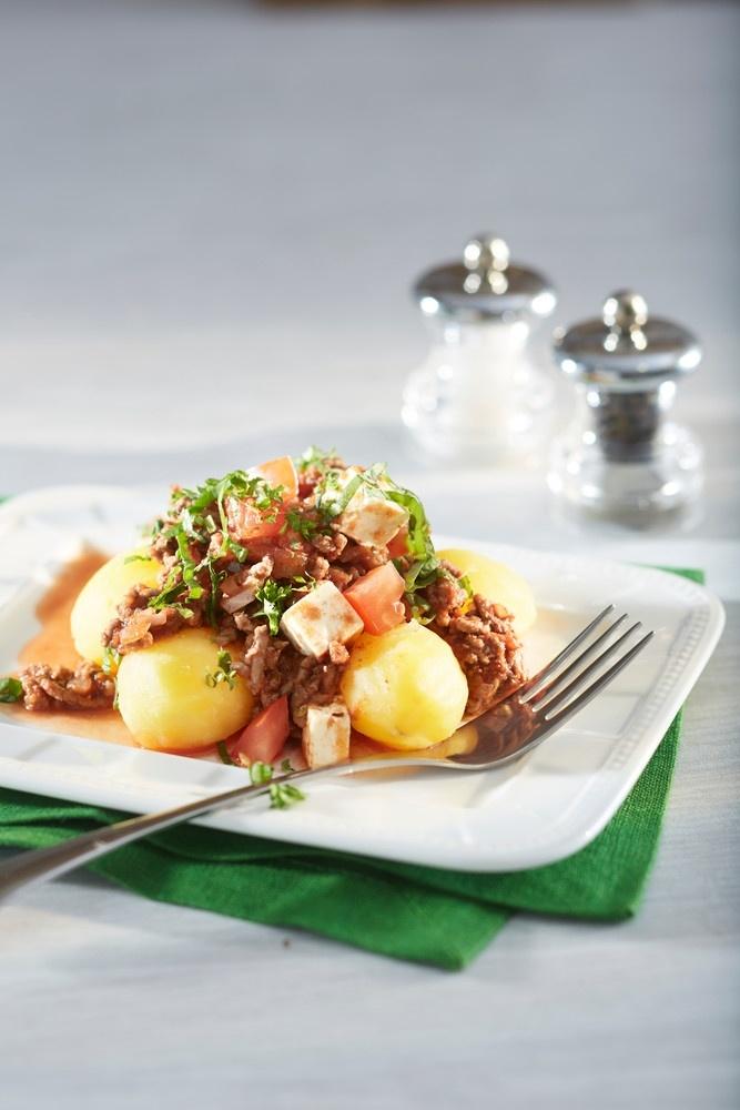 Tomaattinen jauheliha-fetakastike | Jauheliharuoat | Pirkka #food