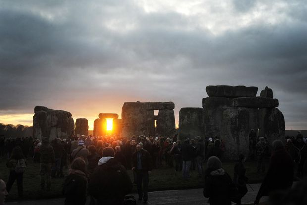 Stonehenge at the winter solstice, 2011