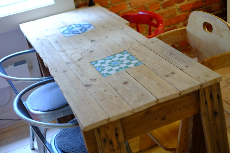 our kitchen table.