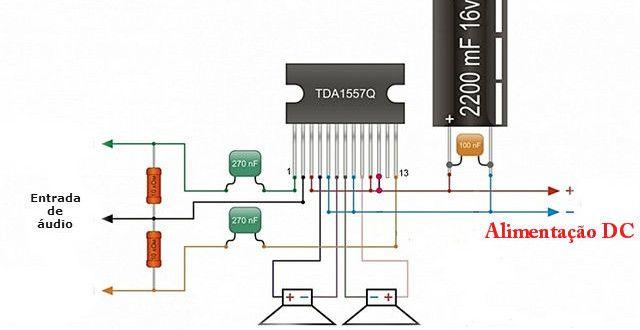 Os Amplificadores de Áudio Estereo compacto de um único Chip