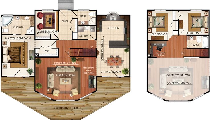 Taylor Creek III Floor Plan  Swap kithen and dining.  Swap master suite and beds 2 and 3.
