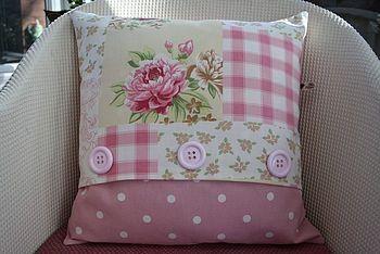 patchwork cushion by suzette