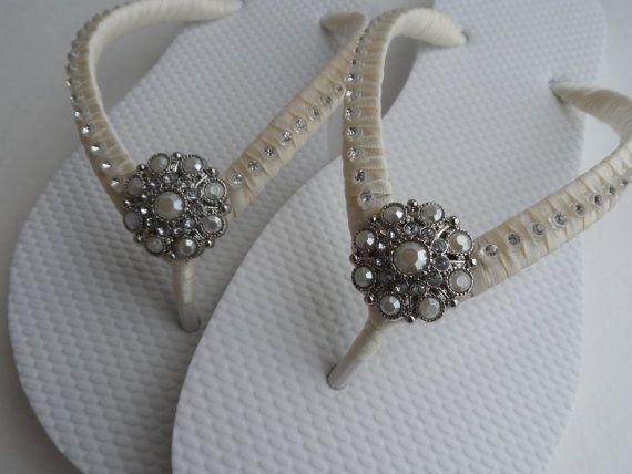 Infradito da sposa / scarpe da sposa colori infradito / spiaggia Infradito Infradito strass / damigelle spiaggia sandali...