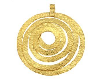 Μενταγιόν σε χρυσό 14Κ Χειροποίητη Σπείρα Σφυρήλατη #Pendant #Gold #Forged_Spiral #handmade #craftsmanship #goldsmith #Thessaloniki #Greece 26341