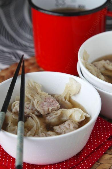 Soupe de raviolis chinois la recette vid o pas pas pour faire vos wontons le miam dim sum - Chinois pour la cuisine ...