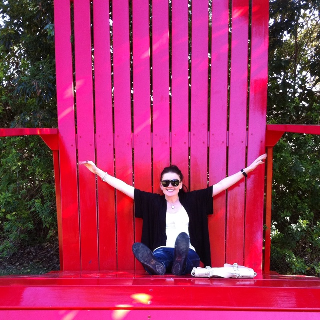 Giant chair, the hunter valley gardens, NSW