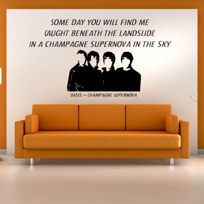 Champagne Supernova Wall Sticker Oasis Wall Art