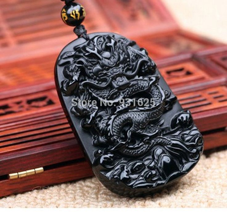 Pendants  beautiful 55x42mm Chinese Handwork Natural Black Obsidian Carved Dragon Amulet Lucky pendant   beads necklace Fashion Jewelry * This is an AliExpress affiliate pin.  Click the image for detailed description on AliExpress website