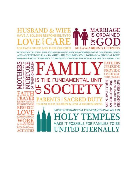 Great Family Home Evening Lesson on The Family Proclamation!