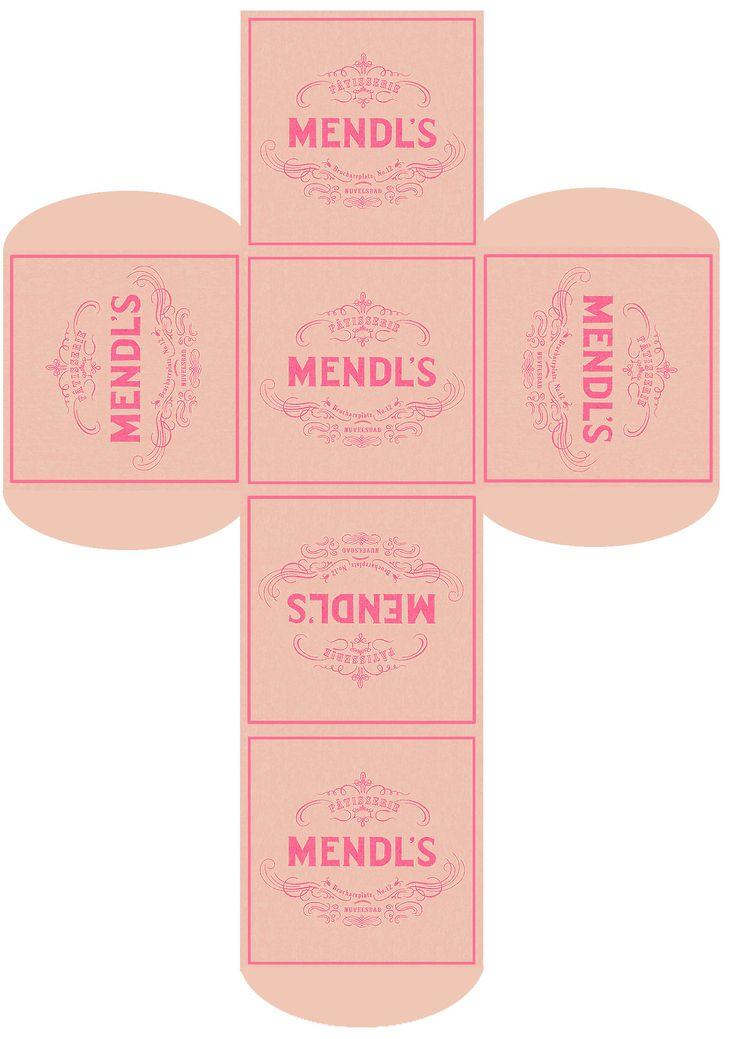 Make your own Mendl's box! Print, cut, fold! #thegrandbudapesthotel