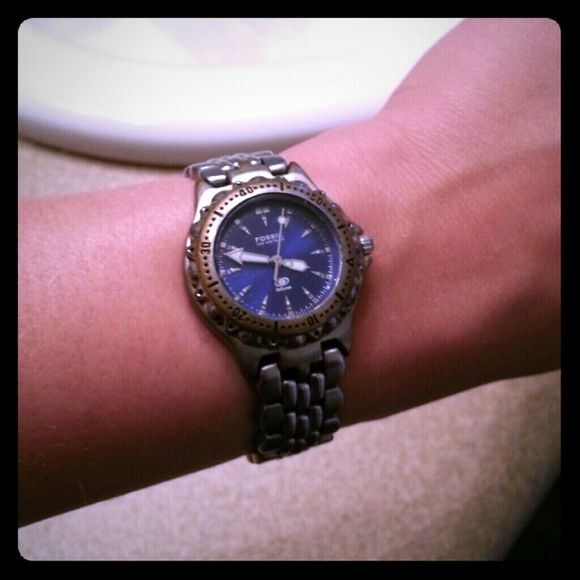 Fossil watch Ladies stainless steel Fossil blue watch Fossil Jewelry