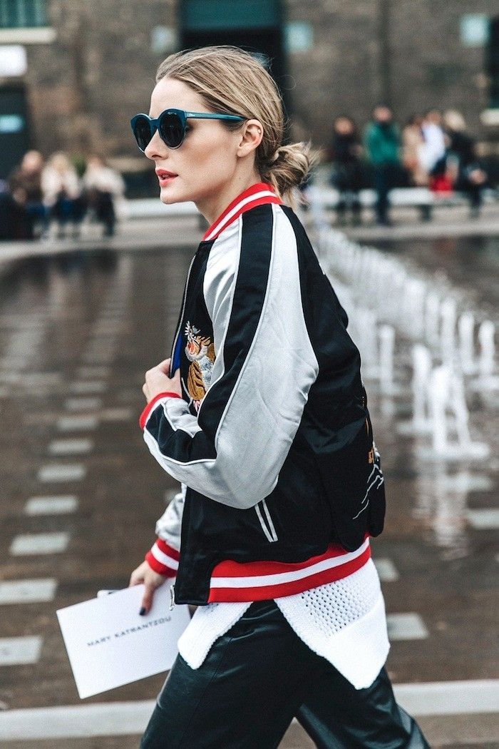 Olivia Palermo Wore the Coolest Embroidered Jacket to London Fashion Week via @WhoWhatWear