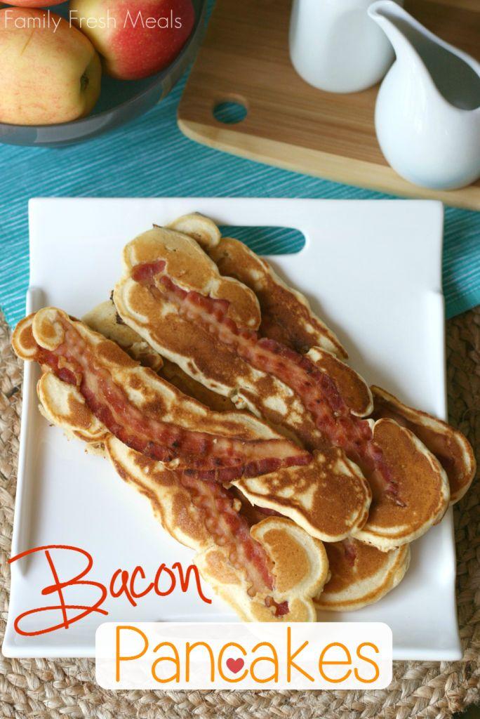 Bacon Pancakes Recipe Once you go bacon, you won't go back.