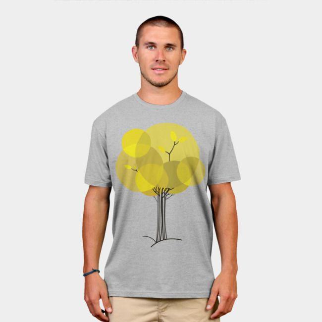 Autumn Tree. #designbyhumans #autumn #fall #tree #minimal #yellow #tshirt #tshirtdesign #apparel #menswear #womensfashion