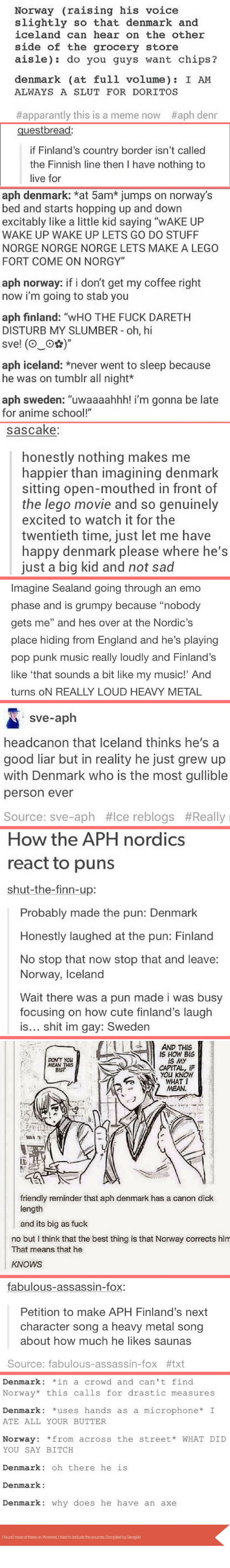 Random text posts I compiled about the nordics (I love them too much whoops...)
