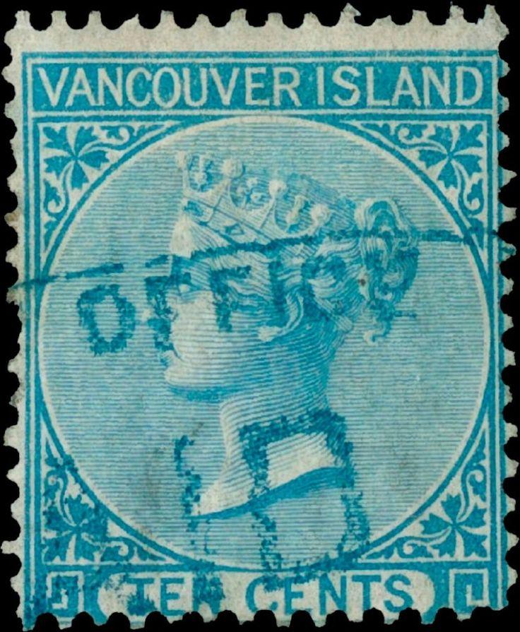 British_Columbia_1865_10c_Genuine