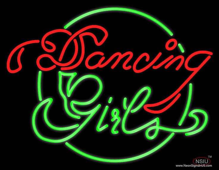 dancing girls real neon glass tube neon sign affordable and durable made in usa if you want to. Black Bedroom Furniture Sets. Home Design Ideas