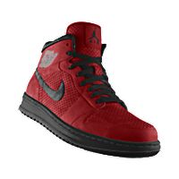 I designed the varsity red Nike Air Jordan Alpha 1 iD basketball shoe with black trim