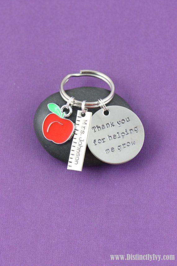 Teacher Appreciation Gift Teacher Keychain Custom