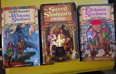 Terry Brooks Sword of Shannara Series 3 Bks  Sword Elfstones Wishsong