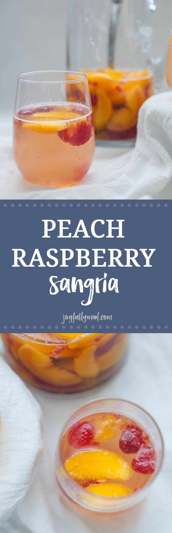 This Peach Raspberry Sangria is going to be the hit of all of your summer get togethers! A simple sangria recipe with peaches, raspberry, Moscato wine and a quick peach simple syrup makes this cocktai (Party Mix Drinks)