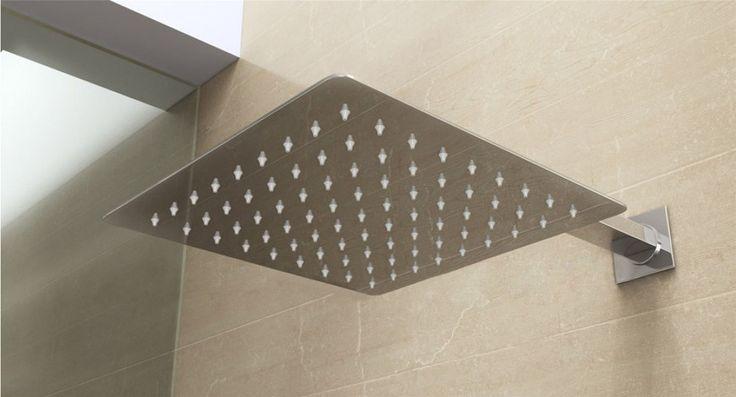 Ultra Thin Square Rain Shower With Arm //Price: $67.00 & FREE Shipping //     #BathroomDecor #ModernShowerIdeas
