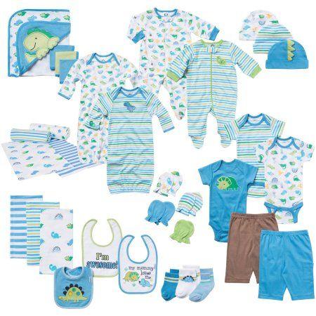 Gerber Newborn Baby Boy 33-Piece Perfect Shower Gift Layette Mega Set 0-3M