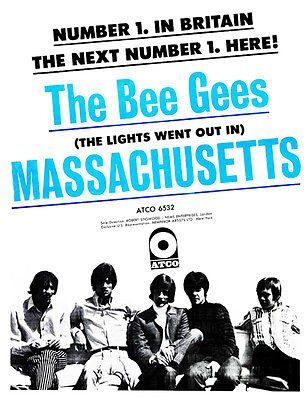 The Bee Gees - Massachusetts - 1967 - Single Release Promo Poster