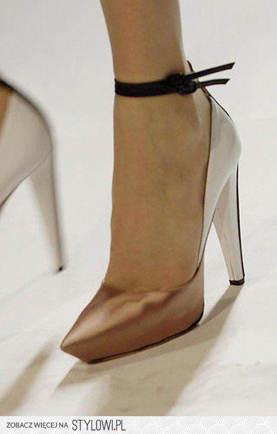 2-toned metallic ankle straps