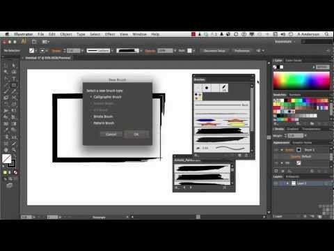 Adobe Illustrator CS6 Tutorial | Creating Custom Illustrator Brushes | InfiniteSkills