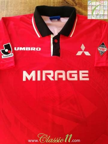 Official Umbro Urawa Red Diamonds home football shirt from the 1996 & 1997 seasons