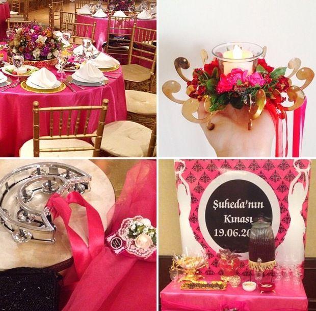 bindalli - kaftan- henna night- hen party- purple- bridal- turkish bridal shower- traditional wedding- before wedding day- kina- turkish bride- culture- kina gecesi- masa duzeni- pembe- tablesclape