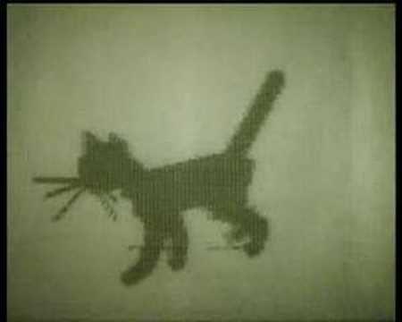 Kitty : 1968 - Directed by N. Konstantinov. One of the earliest examples of computer animation hails from Russia in 1968. It's sort of ASCII art set in motion. Yes, even back then people with computers were just as  fascinated with cats as we are today.
