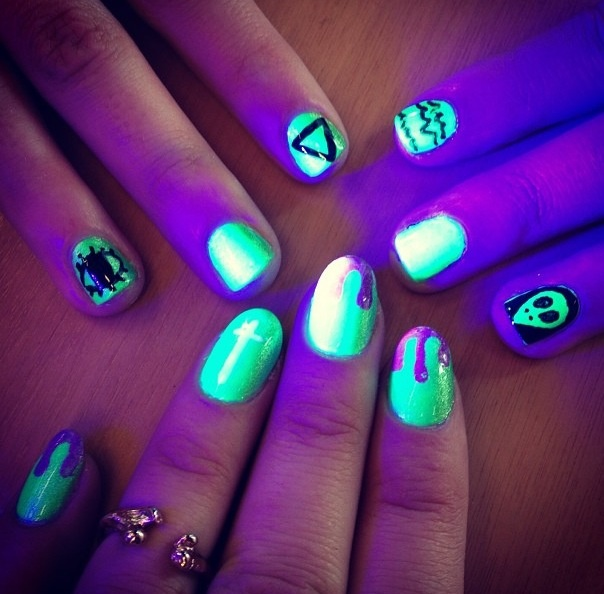 Glow and the dark nail polish.